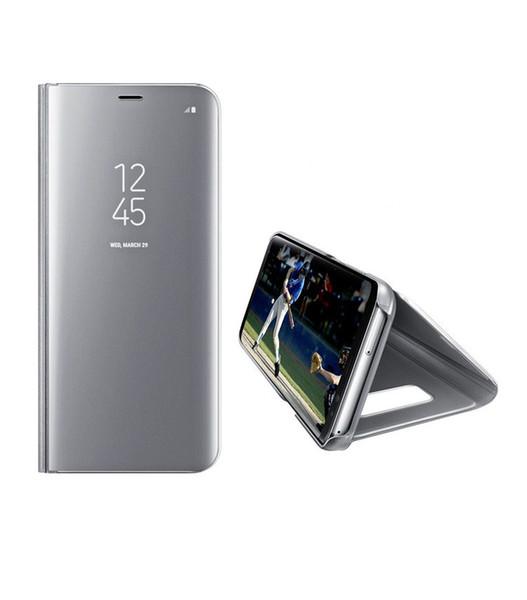 Convient pour samsung téléphone portable shell note8 support housse de protection S8 miroir électrolytique smart flip cover S10 cove en cuir vertical