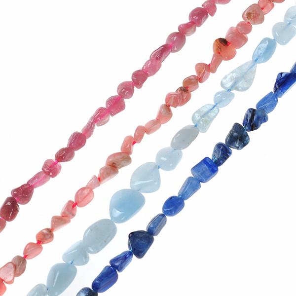 3*5*8MM Irregular Shape Freeform Chip Gravel Natural Stone Strand Bead Aquamarines Stone For DIY Jewelry Making Bracelet