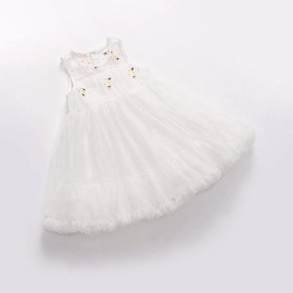 Shimiike 2018 лето новые девушки одеваются на заказ цветы вышитые пушистой сеткой банкет платье принцессы