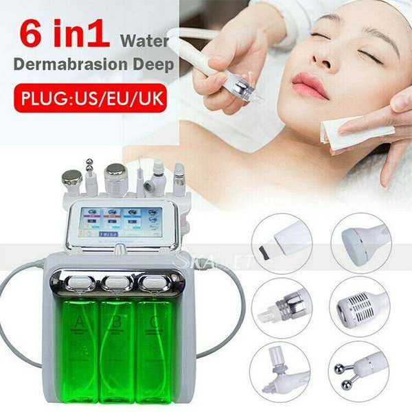 High Quality portable 6 in 1 Water Oxygen Skin Diamond Dermabrasion Water Peeling machine with CE