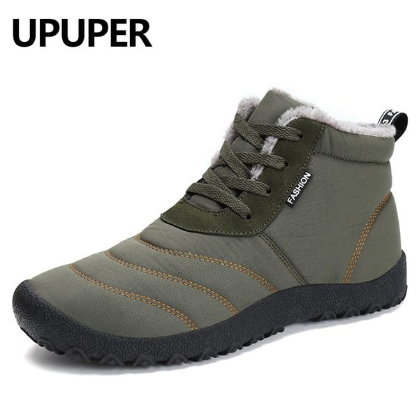 2018 Winter Men Snow Boots Waterproof Shoes Winter Boots With Fur Fashion Men Ankle Boots Warm Plush Footwear Winter Shoes