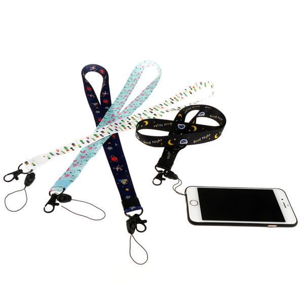 45cm Lanyard for Keys Cartoon lanyard for iphone 7 Samsung Phones MP3 USB Flash Drives Keys Keychains ID Name Tag Badge Holders