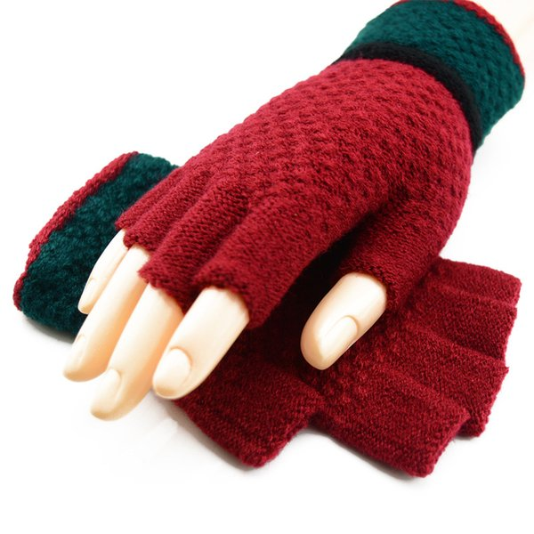 Colorful Unisexy Fingerless Fitness Gloves Warm outdoor Fingerless Knitted Gloves For Winter/Autumn/Spring DHL Free 20pcs