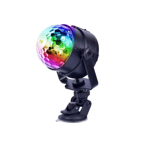 Sonido activado Rotación de la bola de discoteca Luces de fiesta Luz estroboscópica 5 V Carga USB Luces de escenario para Navidad Inicio KTV Camping al aire libre