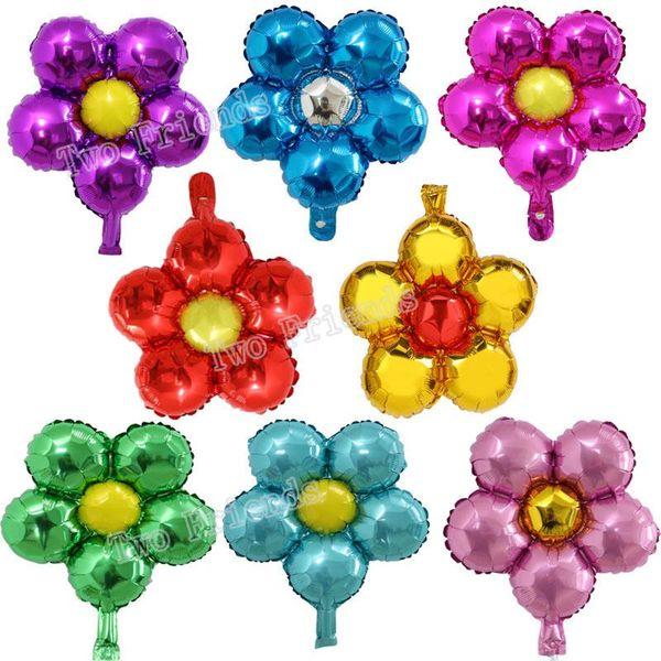 100pcs 18inch Çiçek Alüminyum Folyo Balonlar Güzel Oyuncak Düğün tercih Ve Hediyeleri Çocuk Doğum Parti Süsleri Helyum Globos