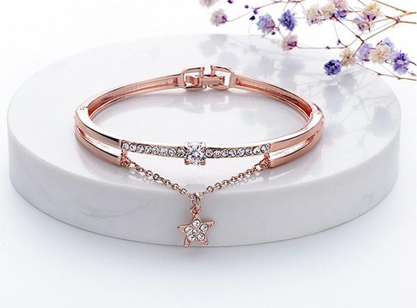 Designer's New Bracelet Star Drill Titanium Steel Bracelet Student Jewelry Luxury Fashion Accessories
