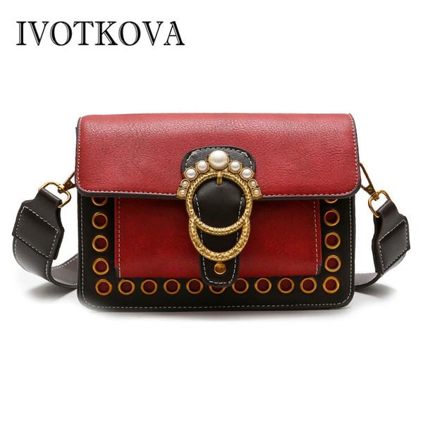 IVOTKOVA 2018 Handbags Women Famous Brand Designer Women Messenger Bags Fashion Female Shoulder Bag Ladies Tote bolsa Purses