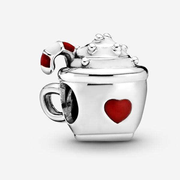 Fit Pandora braccialetto di fascino di cacao Candy Cane stile borda i braccialetti 925 regalo braccialetto d'argento Gioielli fai da te con il marchio originale