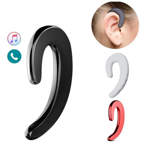 New Ear Hook Headphone Bone Conduction Earphone Wireless Bluetooth Headset No Ear Plug Painless Wear with Microphone and Volume Button