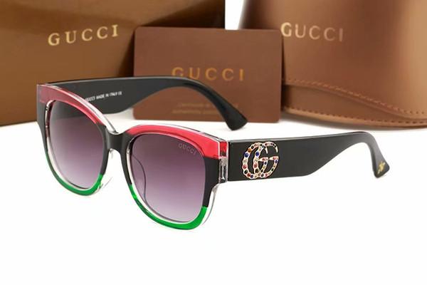 0218 Lujo gafas de sol cuadradas mujeres Italia diseñador de la marca Diamond Gafas de sol Damas Vintage de gran tamaño Mujer Gafas gafas