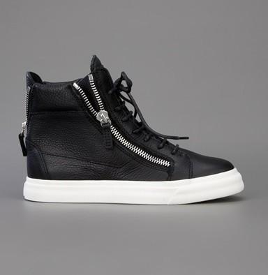 Yüksek kaliteli zanotty erkek ve kadın ayakkabı beyaz geunine deri yüksek top rahat ayakkabılar orijinal kutusu 35-46