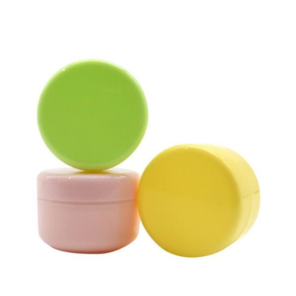 10G / 10ML PP Mini vide plastique rechargeable cosmétique pots d'échantillon de maquillage crème contenant des flacons de bouteille de flacons pour crème pour le visage crème pour les yeux