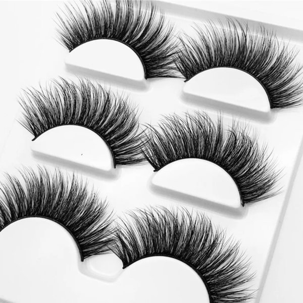 3pairs Hair False Eyelashes 2019 Natural Think Lashes Wispy Black Long Eye Extension Makeup Cosmetics Tools