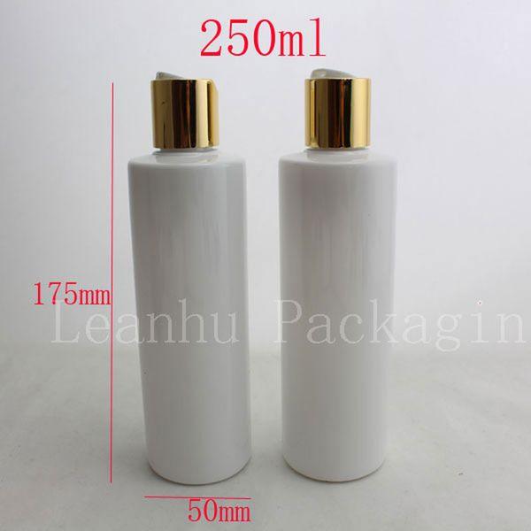 250 ml x 20 garrafas de óleo de plástico branco vazio com tampas, DIY 250 ML loção PET Garrafa Com Tampa, garrafas de embalagens de cosméticos transparentes