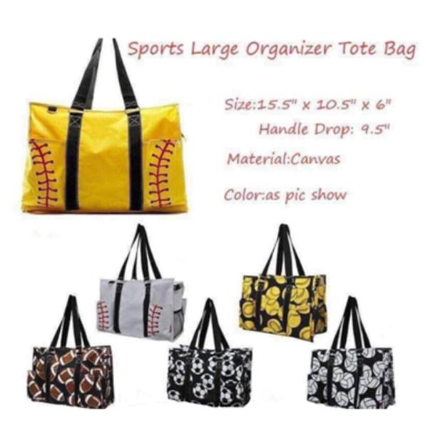 Bolsa de playa deportiva al aire libre caliente bolsa de lona bolsa de béisbol de softbol de voleibol de las mujeres bolsa de almacenamiento de mano bolsas de deporte T2D5029