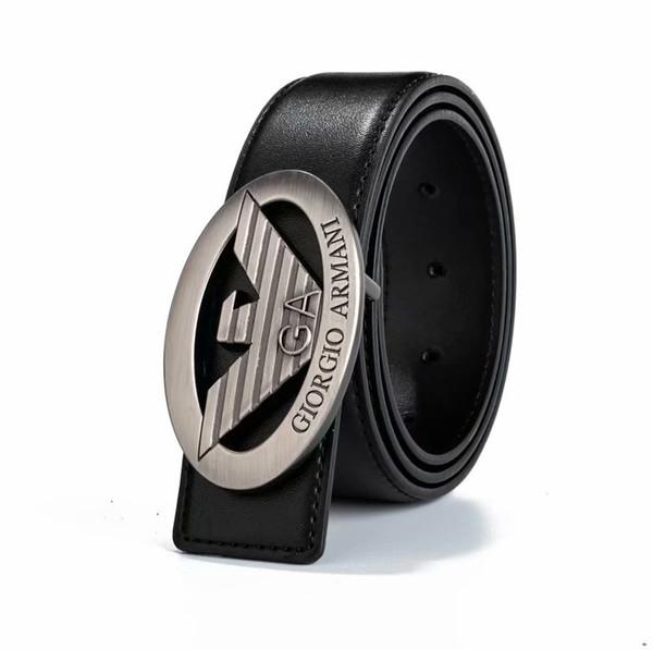 2019 new belt classic brand soft leather belt fashion brand men's and women's belts size 105-125cm