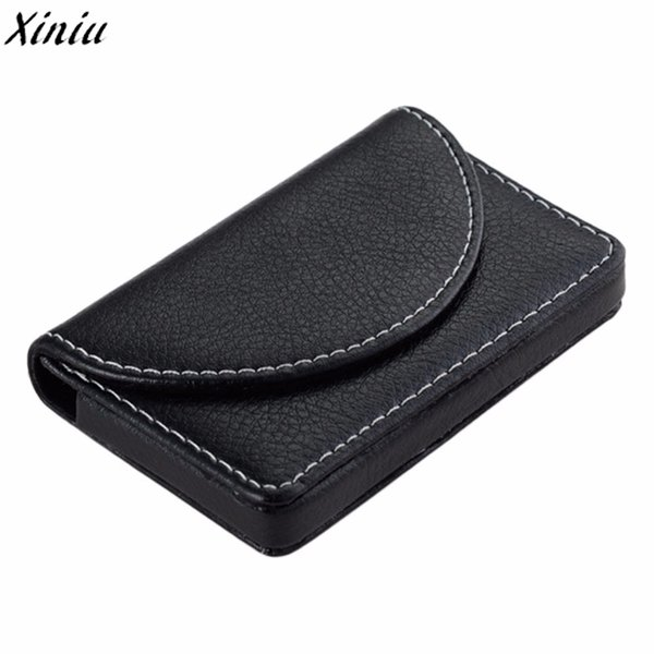 Men Card Holder Litchi Stria Leather Vintage Card Package High Quality Business Case Visitekaartjes Houder #6212