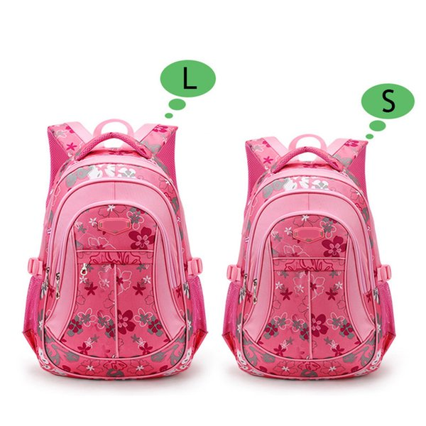Fashion Children Backpack Oxford Flower Printed Boys Girls Student Bags Waterproof Anti-friction School Bag Fab Women Bag
