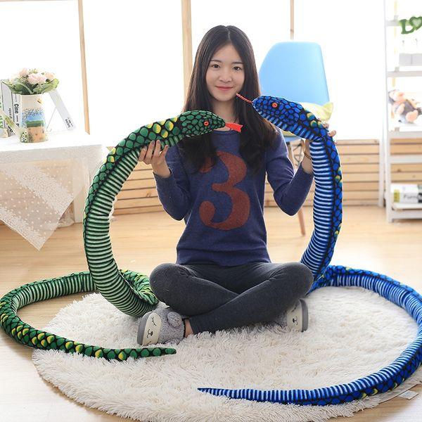 Simulation Cobra and Python Snake Plush Toys Dolls Soft Animal Stuffed Toy for Kids Children Funny Birthday Christmas Gift