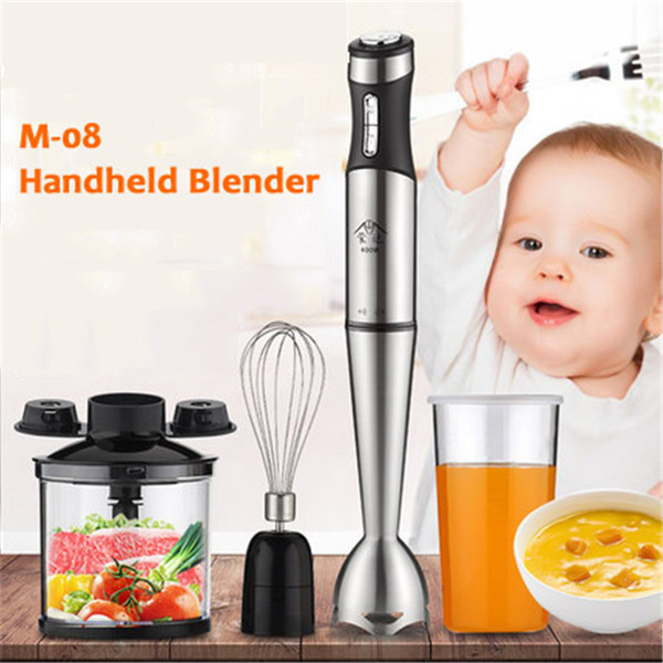 220V Electric Handheld Blender Meat Grinder Food MIxer Processor Multifunctional Household Babycook 8 Gears 400W Hand Agitator