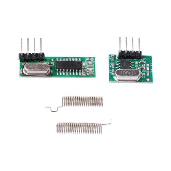 1 Set New 433Mhz Superheterodyne RF Receiver Transmitter Module Kit With 2 Antennas For Arduino/ARM/MCU
