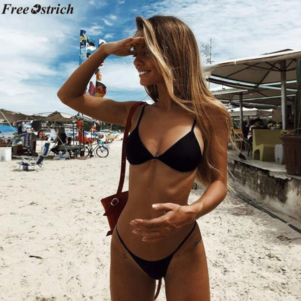 LIVA GIRL Sexy Women Swimwear Brazilian Bikini Push Up Swimsuit Solid Beachwear Bathing Suit Thong Biquini Bikini Set