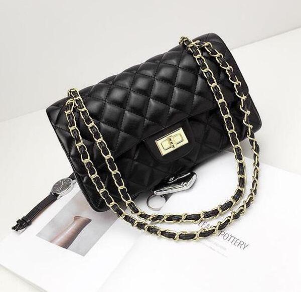 10 color factory wholesale brand handbag upgrade Lingge woman bag leather embossed leather classic woman chain bag woman bag