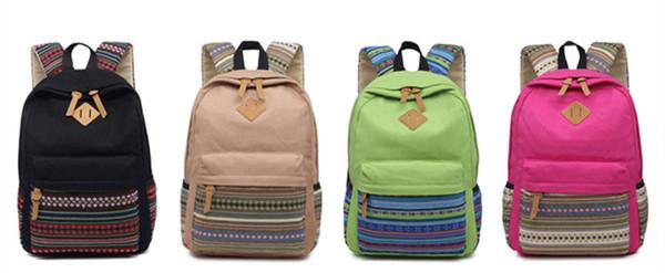 43*29*14CM Canva&woven fashion fabric School Bag Encrypted lining 17'' Laptop Women Casual Rucksack Men Waterproof School Backpack Daypacks