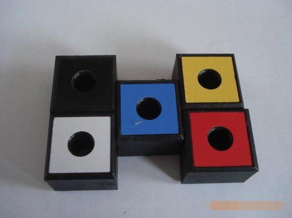Newest Colorful Plastic Square Ashtray Storage Box Holder Office smoke block For Cigarette Bong Glass Smoking Pipe