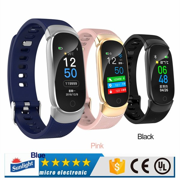 QW16 Smart Fitness Bracelet Tracker Colorful Screen Blood Pressure Heart Rate Monitor Women Watch for iphone Samsung xiaomi