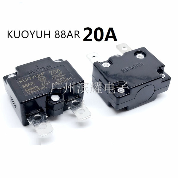 best selling Taiwan KUOYUH 88AR-20A Overcurrent Protector Overload Switch Automatic Reset