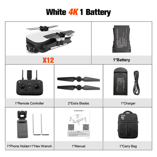 White with 1*battery+Portable Bag
