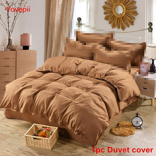 Yovepii 1pc Duvet cover Home textile Solid Comforter cover Microfiber QUILTS Modern white bed No pillowcase No sheet