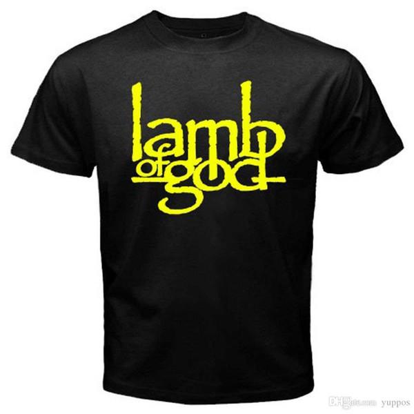 New Lamb of Good Metal Rock Band Logo Men's Black T-Shirt Size S to 3XL