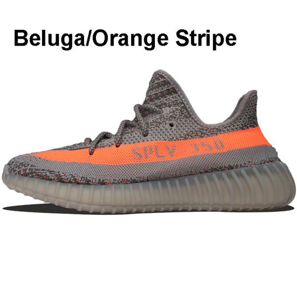 Beluga / Orange Stripe