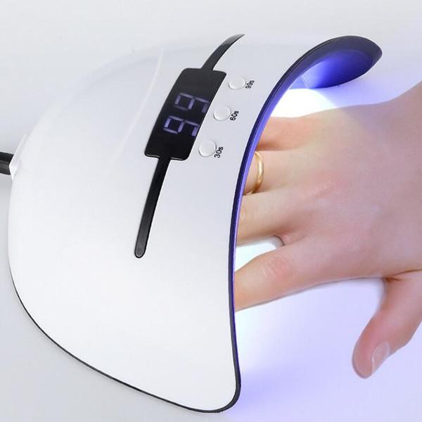36 w UV Lâmpada Prego Secador Para Todos Os Tipos de Gel 12 Levou Lâmpada para Prego Máquina USB 30 s 60 s 90 s temporizador portátil lâmpadas endurecimento