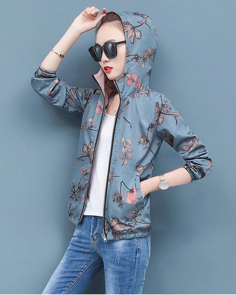 2019 Marken-Qualitäts-lange Hülse New Designer Damenmode Jacken und natürliche Farben für Sport-beiläufige Mäntel mit Größe M-4XL B100198Q