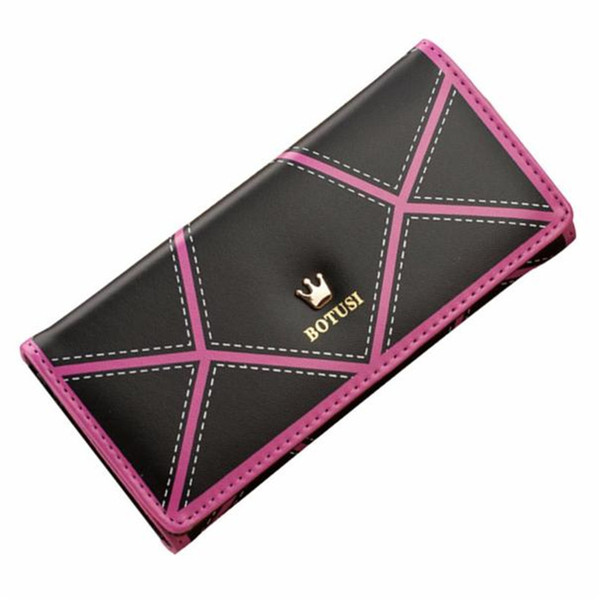 2019 Women Ol Style Long Crown Leather Clutch Purse Handbag Wallet Long Leather Ladies Wallet Female Handbag Purse