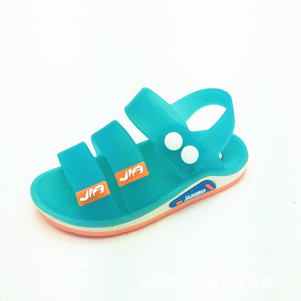 Pvc Casual Kids Sandals Summer Toddler Boys Beach Shoes Soft Breathable Cool Comfortable Children Male Jelly Sandals Sha25 Y19051303