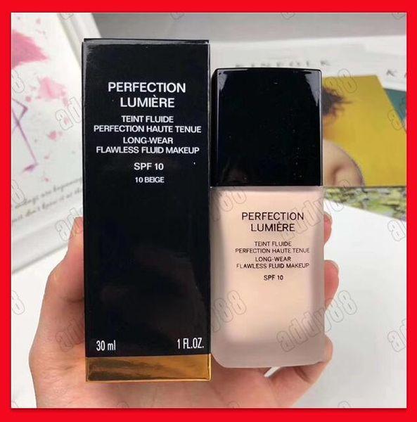 2019 new face makeup perfection lumiere liquid foundation 30ml concealer long wear flawle fluid makeup pf 10
