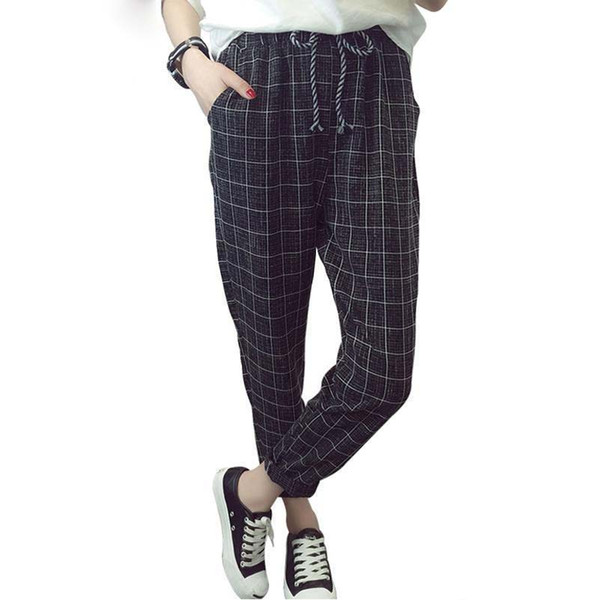 Nice Summer Fall England Style Womens Trouser Fashion Design Harem Pants With Pocket Casual Pants Size S-2XL 5 Colors DN280