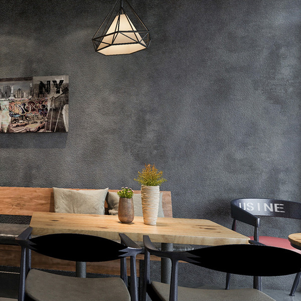 Retro Plain Grey Cement PVC Vinyl Wallpaper For Walls Living Room Bar Cafe Restaurant Clothing Shop Background Wallpaper Roll