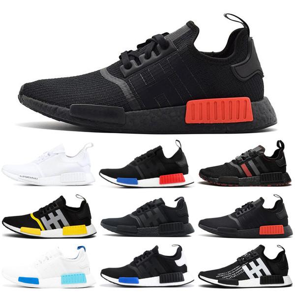 Adidas NMD Boost R1 Laufschuhe für Frauen Männer OG Atmos Japan Solar Red Thunder Dreifarbige Triple Weiß Schwarz Herren Trainer Sport Sneaker 36-45