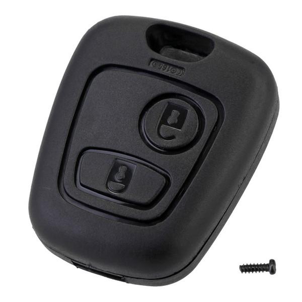2 knopffernschlüssel autoschlüssel fob case ersatz shell cover für citroen c1 c2 c3 c4 xsara picasso für peugeot 307