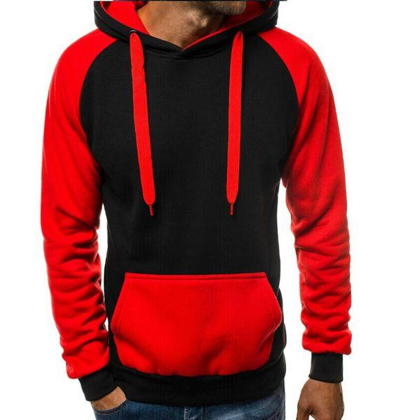 Men`s Winter warme Fleece Patchwork-Jacke Mantel-beiläufige Farbe Zusammenstoß Sweatshirt Pullover Top Outwear