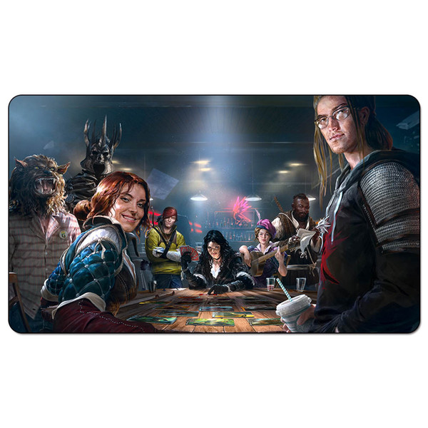 Magic Board Game Playmat:gwent main promo art 60*35cm size Table Mat Mousepad Play Matwitch fantasy occult dark female wizard2Trial o
