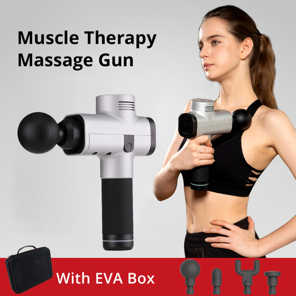 Muscle Massage Gun Pain After Exercising 3 Levels Speed Low Noise 4 Massage Heads Muscle Massager Tissue T190715