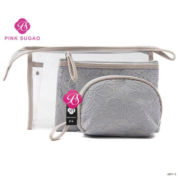 Bolsa de maquillaje rosa sugao bolsas de cosméticos 2019 nuevo estilo claro organizador de viajes de gran capacidad bolsa de artículos de tocador bolsas de maquillaje de alta calidad con 3 tamaños