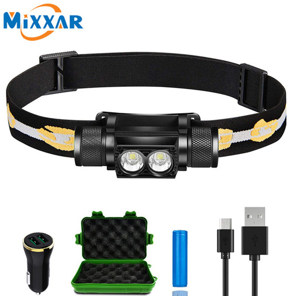 ZK20 L2 10000LM LED Headlamp Durable Waterproof Rechargeable Headlight Dropshipping Head Camping Light Lamp Battery Charger
