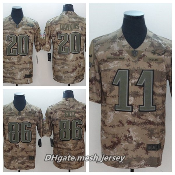 huge selection of ac55c a03b9 2019 Men Philadelphia Eagles Football Jersey 11 Carson Wentz 20 Brian  Dawkins 86 Zach Ertz Camo Salute To Service Limited Stitching Jersey From  ...